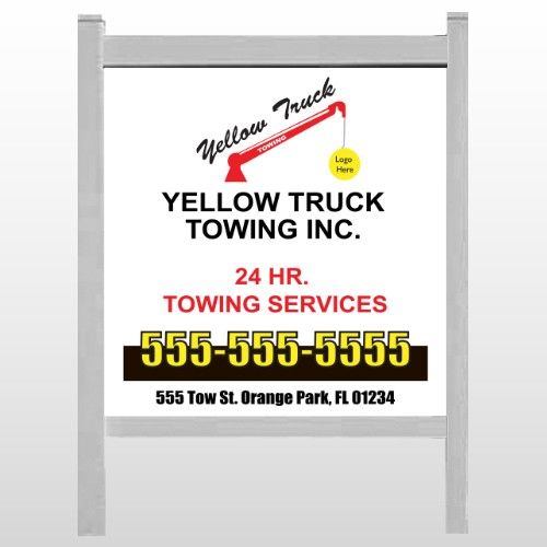 """Towing 125 48""""H x 48""""W Site Sign"""