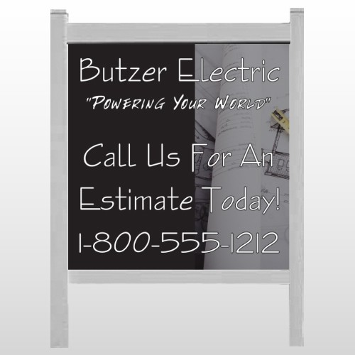 "Black And Book 217 48""H x 48""W Site Sign"