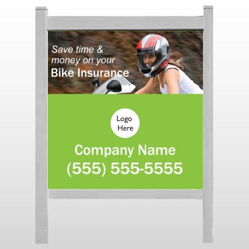 "Bike Insurance 110 48""H x 48""W Site Sign"