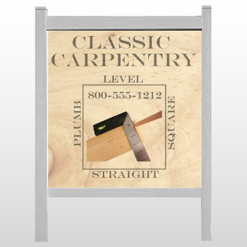 "Carpentry 238 48""H x 48""W Site Sign"