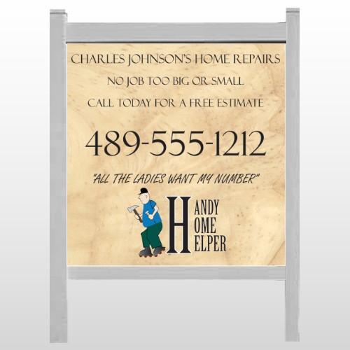 "Home Repair 242 48""H x 48""W Site Sign"