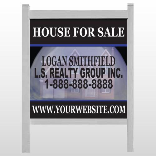 "House Snow Globe 852 48""H x 48""W Site Sign"