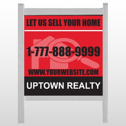 """Red House Magnified 859 48""""H x 48""""W Site Sign"""