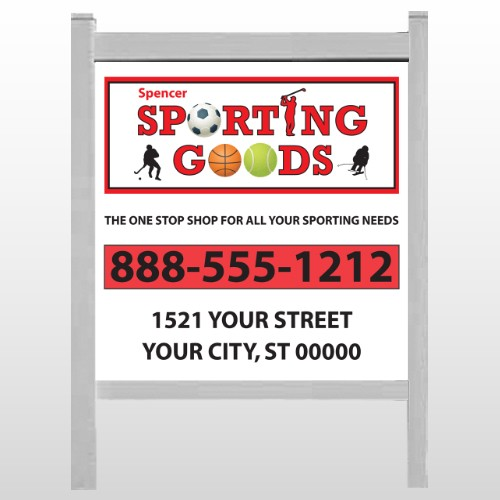 """Sporting Goods 528 48""""H x 48""""W Site Sign"""