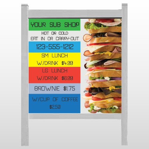"Sandwich 375 48""H x 48""W Site Sign"