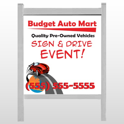 "Budget Auto Mart 116 48""H x 48""W Site Sign"