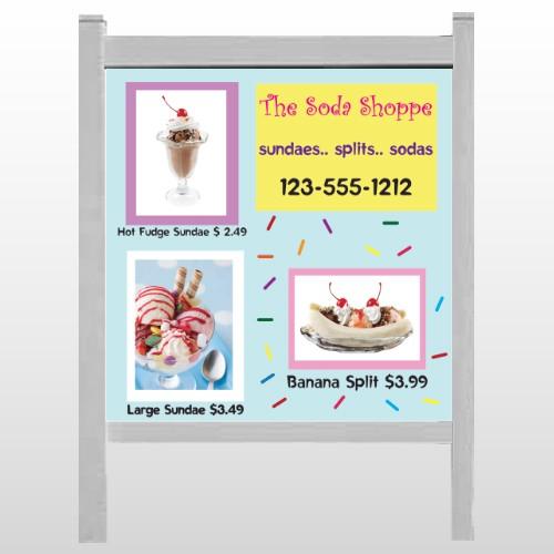 """Ice Cream 374 48""""H x 48""""W Site Sign"""