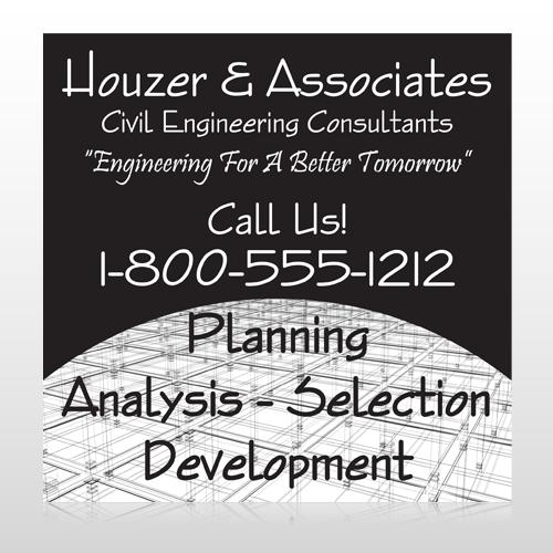 Black Planning 218 Custom Sign