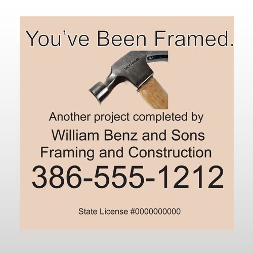 Framed 236 Site Sign