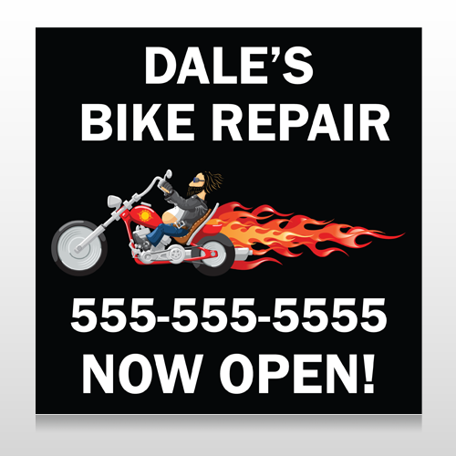 Harley Flames 108 Site Sign