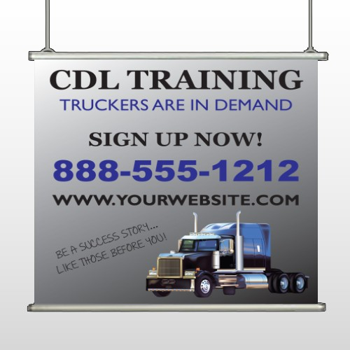 CDL Training 155 Hanging Banner