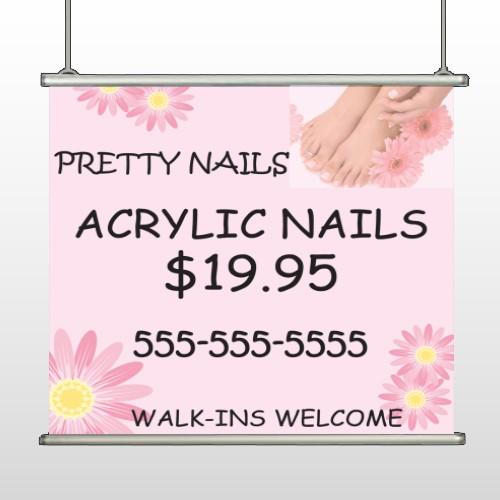 Nail Salon 291 Hanging Banner