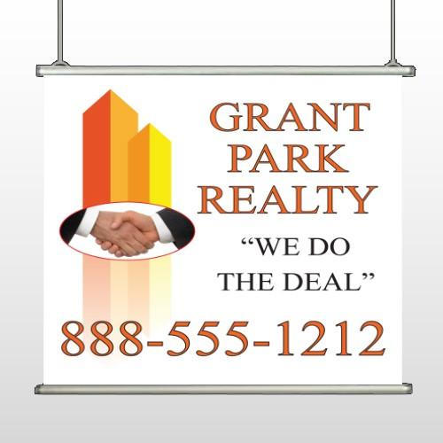 Real Handshake 365 Hanging Banner