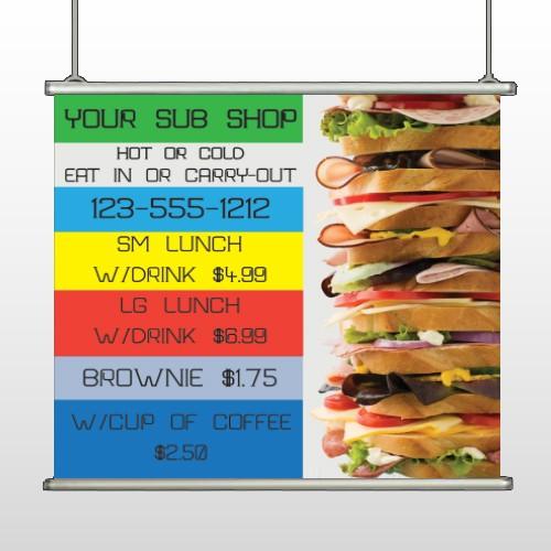 Sandwich 375 Hanging Banner
