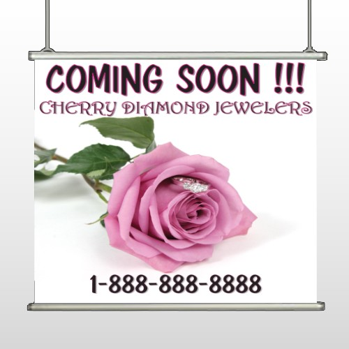 Pink Rose Hidden Ring 399 Hanging Banner