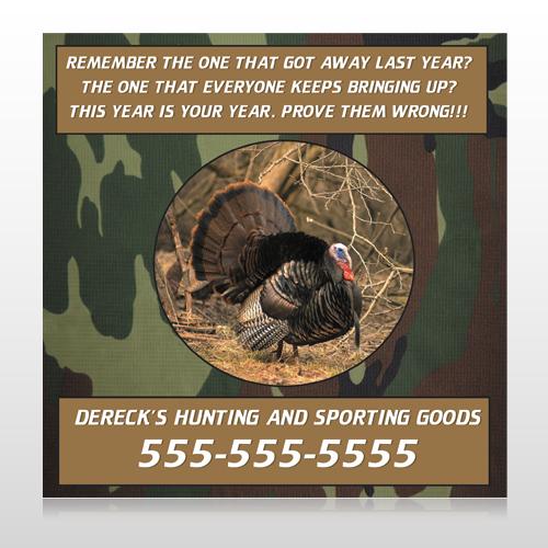 Hunt Turkey 409 Custom Sign