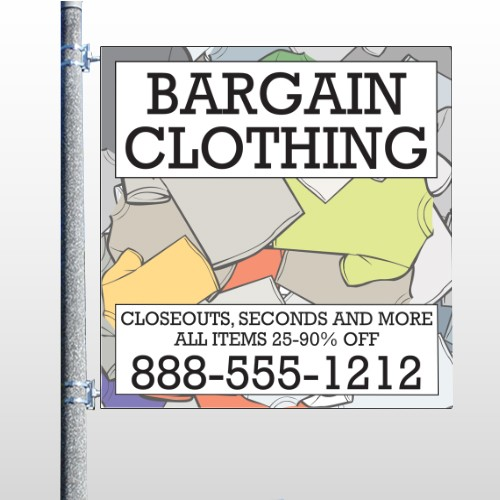 Bargain Bin 532 Pole Banner