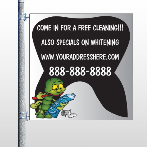Brushing Germ 502 Pole Banner