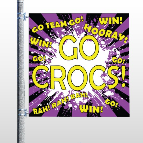 Crocs 42 Pole Banner