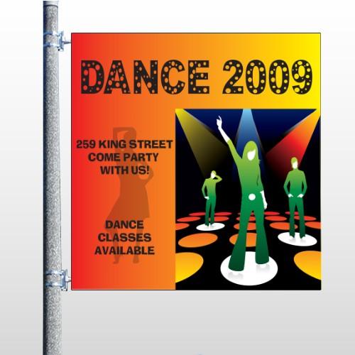 Dance Disco 518 Pole Banner