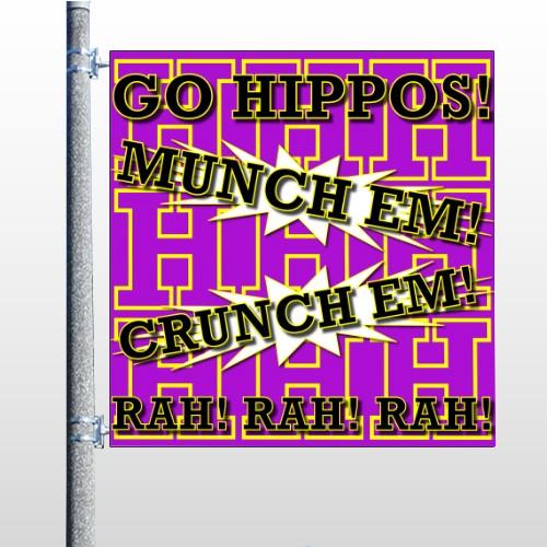 Hippos 45 Pole Banner