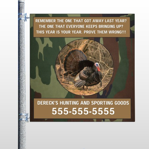 Hunt Turkey 409 Pole Banner