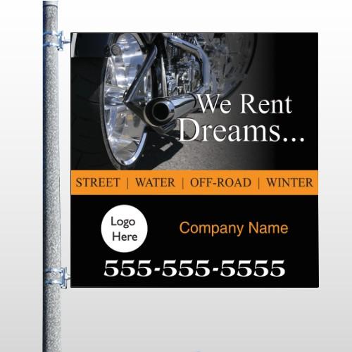Rent Dreams 109 Pole Banner
