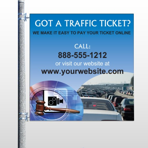 Traffic Cars 151 Pole Banner