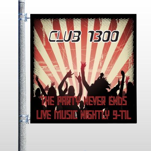 Night Club 523 Pole Banner