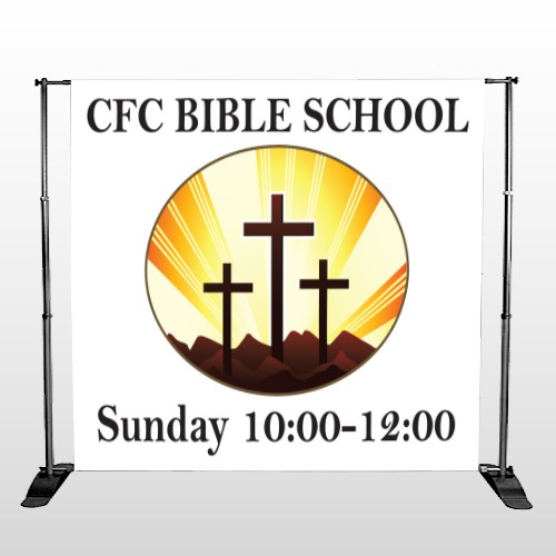 3 Crosses 149 Pocket Banner Stand