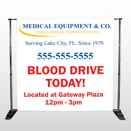 Blood Drive 97 Pocket Banner Stand