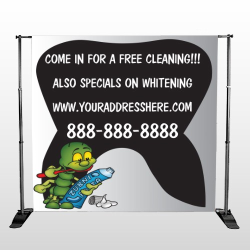 Brushing Germ 502 Pocket Banner Stand