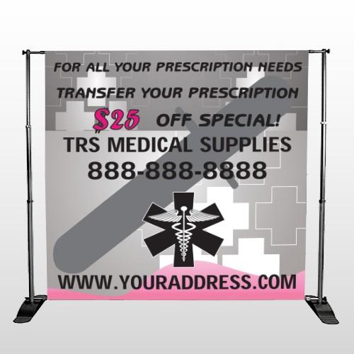 Caduceus Med 503  Pocket Banner Stand
