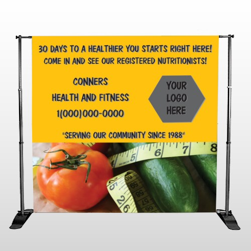 Healthy Tomato 404 Pocket Banner Stand