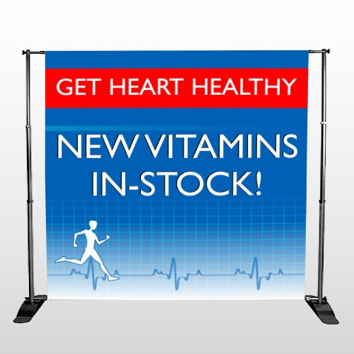 Heart Healthy 140 Pocket Banner Stand
