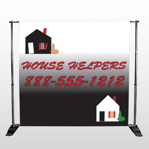 Househelper 245 Pocket Banner Stand
