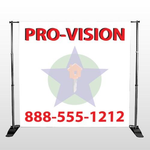Property Management 363 Pocket Banner Stand
