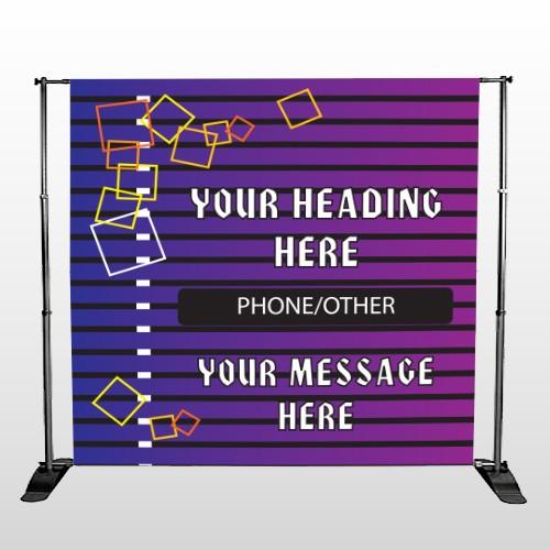 Purple Stripes 142 Pocket Banner Stand