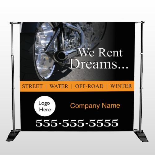 Rent Dreams 109 Pocket Banner Stand
