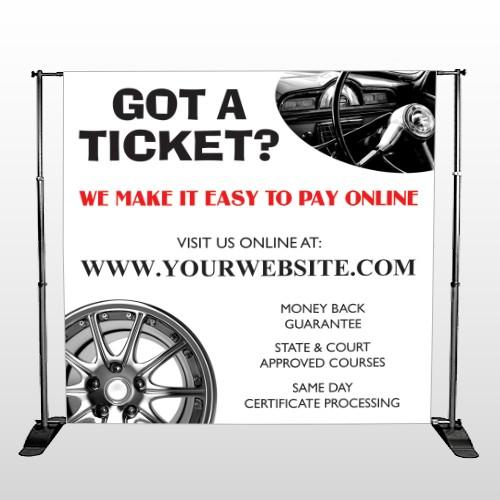 Steering Wheel 154 Pocket Banner Stand
