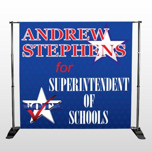 Superintendent 306 Pocket Banner Stand