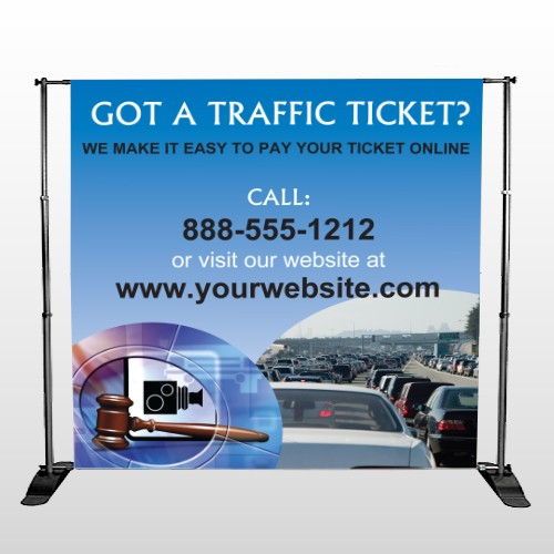 Traffic Cars 151 Pocket Banner Stand