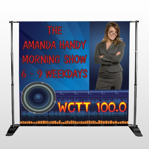 AMP Morning Show 439 Pocket Banner Stand