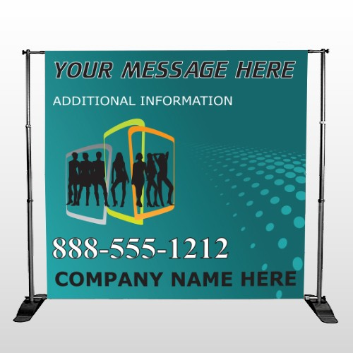 Fashion Models 180 Pocket Banner Stand