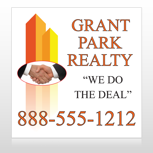 Real Handshake 365 Site Sign