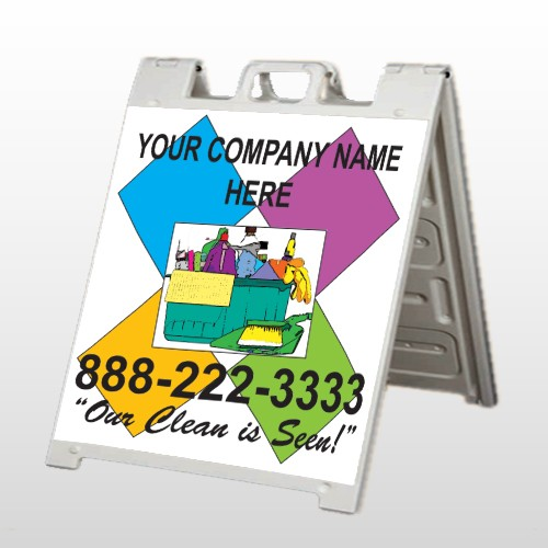 Cleaning Supplies 451 A Frame Sign
