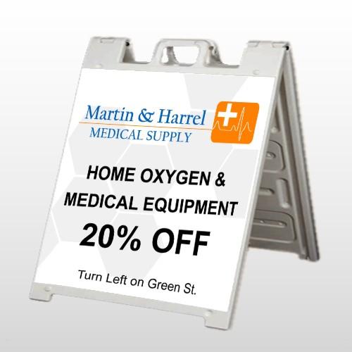 Home Oxygen 139 A-Frame Sign