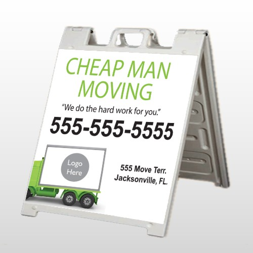 Moving 121 A Frame Sign