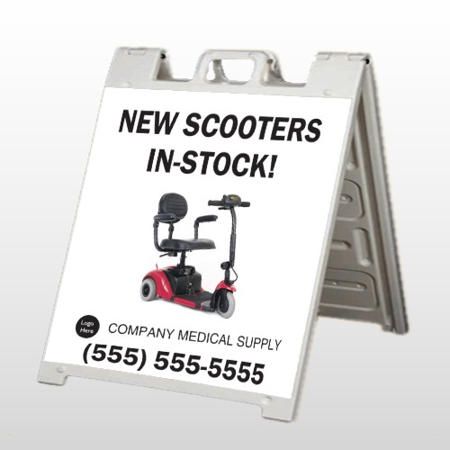 New Scooter 100 A-Frame Sign