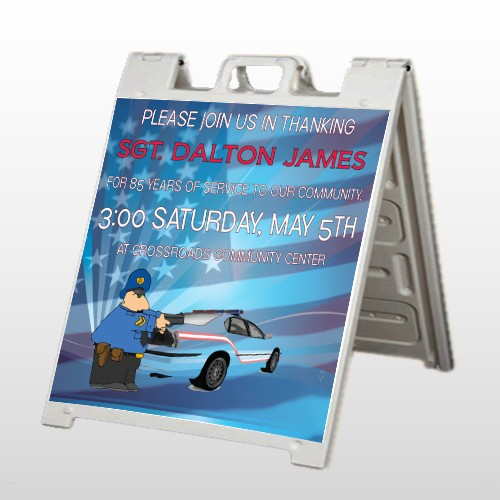 Police Thanks 429 A Frame Sign